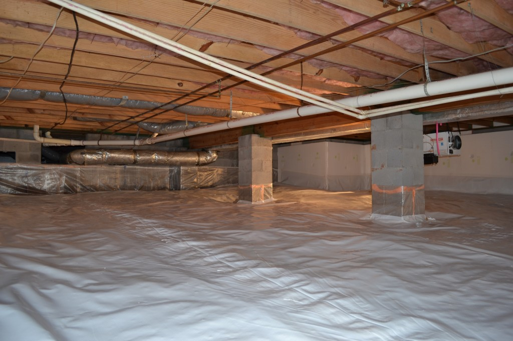 Greensboro closed crawl space moisture barrier Crawl space flooring