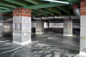 Crawl Space Moisture Control Vapor Barriers Greensboro
